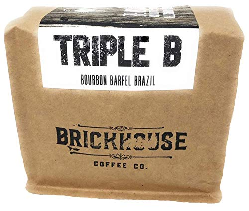 Bourbon Barrel Whole Bean Coffee– Triple B Direct Trade Small Batch Craft Coffee – 12 Ounces ()
