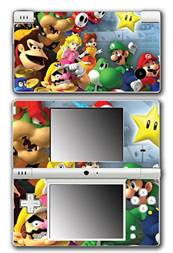 Super Mario Party Friends Island Tour Shy Guy Peach Yoshi Luigi Star Daisy Wario Bowser Video Game Vinyl Decal Skin Sticker Cover for Nintendo DSi System