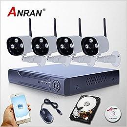 Sistema de circuito cerrado de televisión de la cámara WIFI ARBUYSHOP nuevas llegadas 8CH NVR 2TB HDD 1080P video sin hilos de la vigilancia del IP para la supervisión casera de infrarrojos de Segurid
