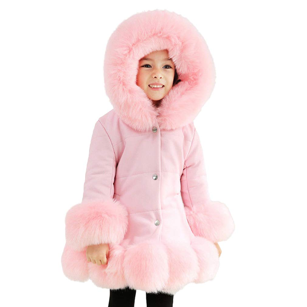 Outdoor Long Sleeve Warm Hooded Parka Jacket DAZISEN Girls Winter Quilt Coats