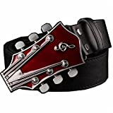 Susan1999 Fashion Men's Belt Metal Buckle Belts Retro Street Dance Hip Hop Waistband Novel Belt 3 115Cm