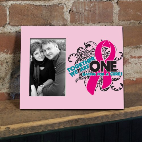 VictoryStore Gift Frame - Breast Cancer Awareness Picture Frame #1 - Together We Are One Racing for the Cure - Holds 4