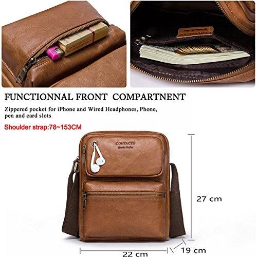 Bag shoulder Briefcase Mens Body Cross Single Messenger Leather Handbag w8wpqFvnT