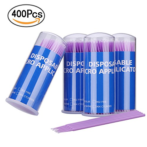 400 Pieces Dental Disposable Product Dental Micro Applicator Brush Bendable Ultrafine Dia.1.5 Mm (purple)