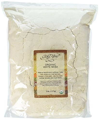 Gold Mine Natural Food Organic Corn Masa, White Corn, 5 Pound (Organic White Corn)