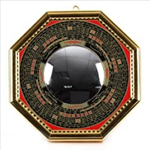 Bagua Luo board convex mirror back : Yonkami-juu specification [ golden / large size ] ¦ feng shui entrance mirror Goods by World Surprise