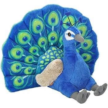 Wild Republic Peacock Plush, Stuffed Animal, Plush Toy, Gifts Kids, Cuddlekins 12 Inches