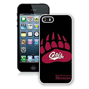 NCAA Big Sky Conference Football Montana Grizzlies 4 White Fantastic Design iPhone 5 5S Cover Case