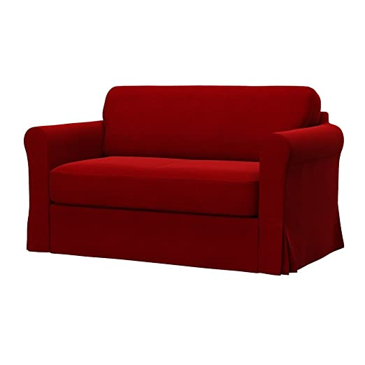Soferia - IKEA HAGALUND Funda para sofá Cama, Elegance Red ...