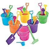 Rhode Island Novelty - 12 play sets (3.25in Bucket, w/Rake, Scoop and Shovel)