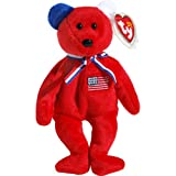 America 911 Memorial Red Teddy Bear - Ty Beanie Babies