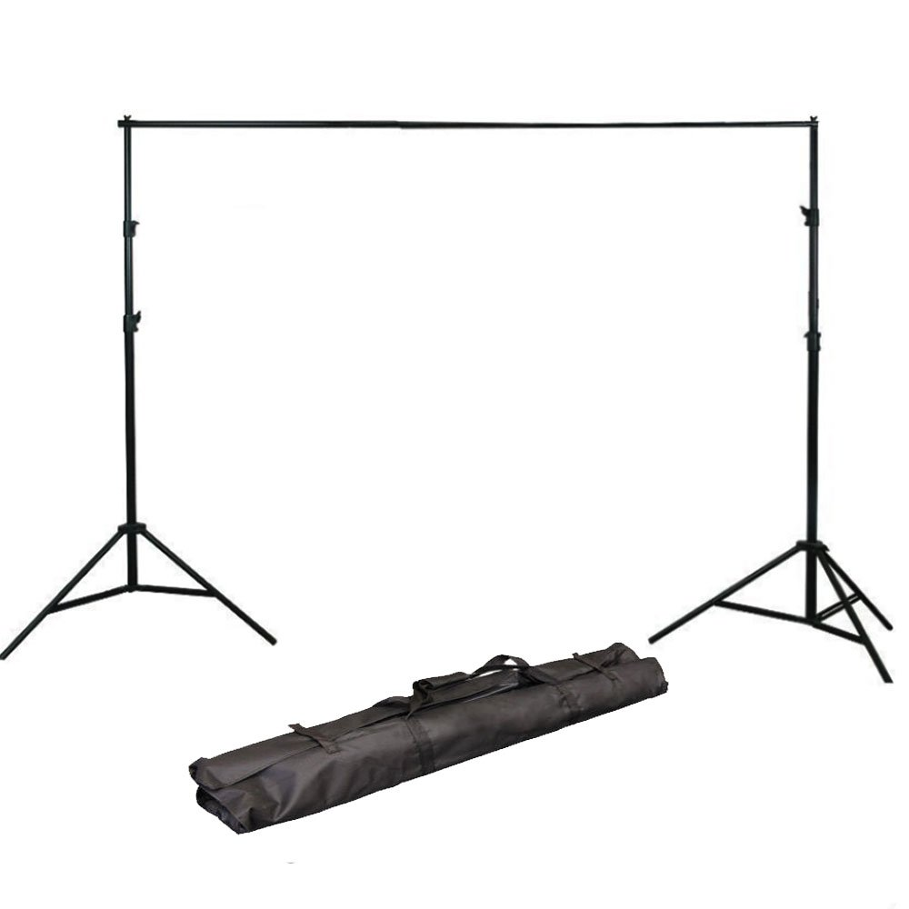 ePhoto H804B Adjustable Background Backdrop Support Stands Photography Backdrop Crossbar Frame Kit by ePhotoinc