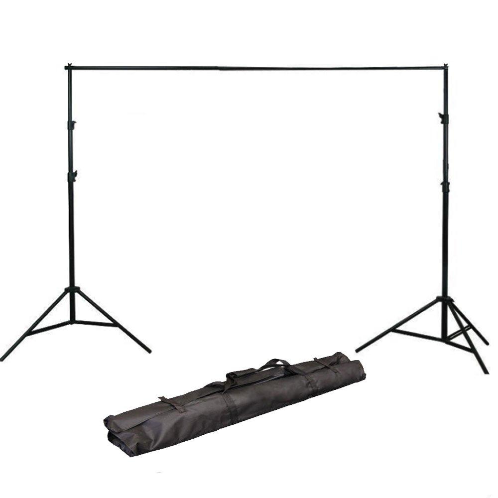 ePhoto H804B Adjustable Background Backdrop Support Stands Photography Backdrop Crossbar Frame Kit
