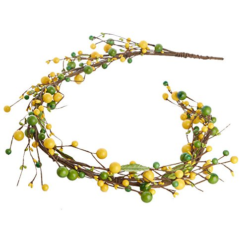 - Impressive Summertime Citrus Yellow and Green Mixed Berry Garland