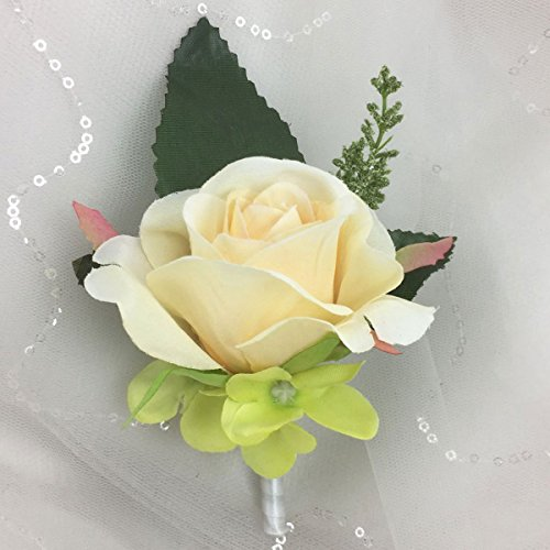 Lily Garden Calla Lily Rose Hydrangea Bridal Wedding Bouquet with Boutonniere (Boutonniere)