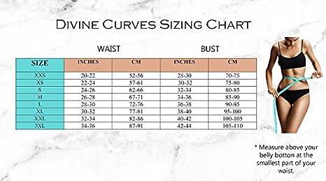 8ed5e4de030 Amazon.com  Divine Curves Waist Trainer Waist Cincher Sport Latex Shapewear  Fajas Hourglass figure Weightloss Fat burning Improve posture Back support  ...