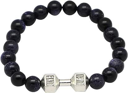 Bracelet Made Of Gold Stone By Live Lift, 16Cm, Unisex, Black