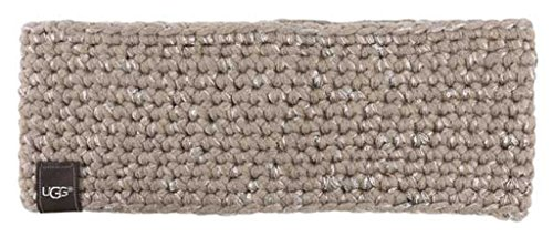 Price comparison product image UGG Womens Crochet Headband With Lurex & Sequins In Stormy Grey