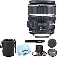 Canon EF-S 17-85mm f/4-5.6 IS USM Lens Bundle- International Model
