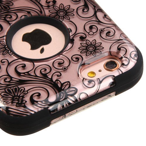 """Kaleidio Case Compatible For Apple iPhone 6 / 6S (4.7"""") [Mybat TUFF] Impact Protective Dual Layer Hybrid Cover [Includes a Overbrawn Prying Tool Stylux Stylus] [Champagne Clover Flowers] from MYBAT"""