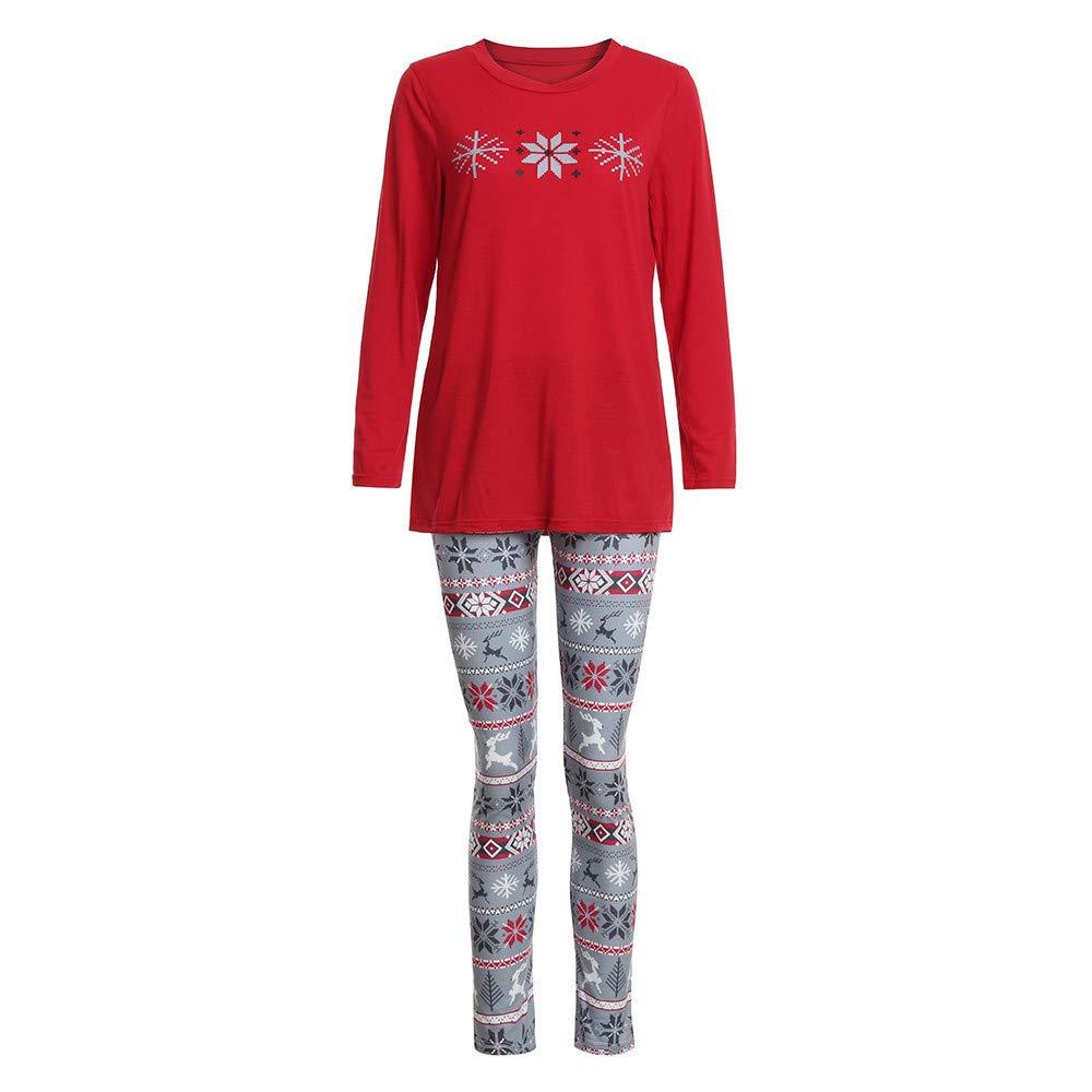 YunZyun 2 Piece Women Christmas Stripe Pajama Sets Jammies Matching Family Winter Long Sleeve Pjs Sleepwear for Mom