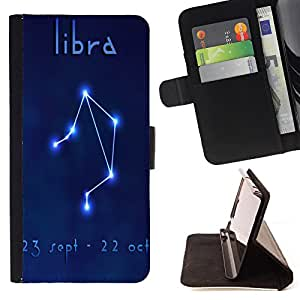 - Constellation Libra - - Style PU Leather Case Wallet Flip Stand Flap Closure Cover FOR LG OPTIMUS L90 - Devil Case -
