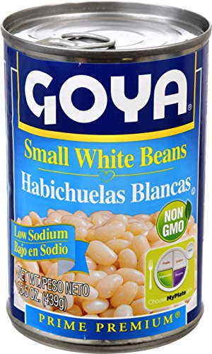 Canned Beans Goya - Goya Foods Small White Beans Low Sodium, 15.5 Ounce