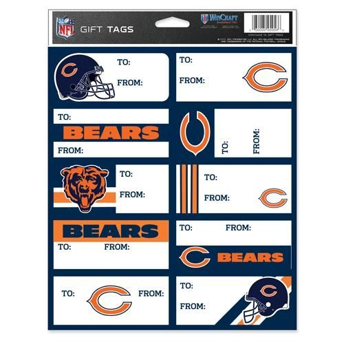 NFL Chicago Bears Gift Tags, Team Color, One (Chicago Bears Wrapping Paper)