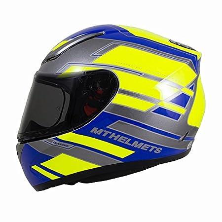 59-60cm MT Revenge Zusa Motorbike Motorcycle Full Face Helmet Blue//Fu Yellow L