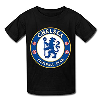 Fc Chelsea Short Sleeve Kids Boys And Girls T-Shirts Black