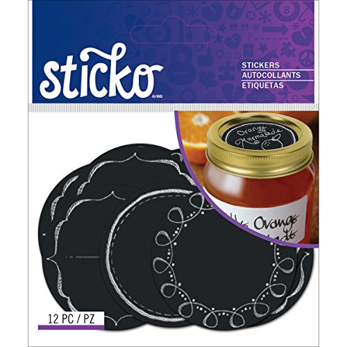 Sticko chalk label stickers-chalk mason jar labels