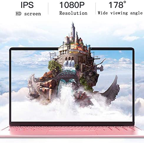 【8GB/Office 2010】 15.6-inch Large Screen Luminous Keyboard high-Performance Laptop J3455 Quiet CPU Wireless LAN 6-Hour Continuous use Windows10 Standard Laptop by Smart US (64G, Rose Gold) 51lnqBo3XrL