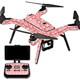 MightySkins Protective Vinyl Skin Decal for 3DR Solo Drone Quadcopter wrap cover sticker skins Coral Damask