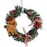 2018!!Garland Xmas Party Decor,Mini Christmas Wreath Wall Door Ornament (C)