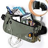 Travel RFID Blocking Money Belt - Hidden Wallet & Passport Holder (Ash)