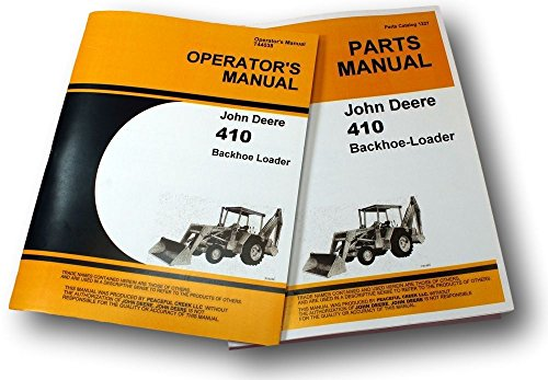 John Deere 410 Backhoe Loader OEM Parts Manual