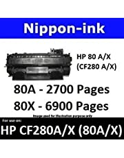 Nippon-ink CF280X (HP 80 X) BK For Use on HP Laser Black Toner - LaserJet Pro series: M401dn, M401dne, M401dw, M401n, M425dn, and M425dw
