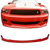 Pre-painted Front Bumper Lip Fits 2010-2012 Ford Mustang | S Style Painted Race Red # PQ PU Air Dam Chin Lip Spoiler other color available by IKON MOTORSPORTS | 2011
