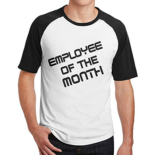 Double Happiness Raglan Employee Of The Month T Shirt Black M For Mens Or Youth