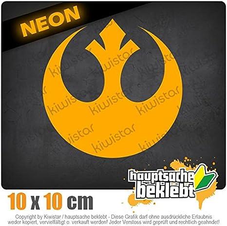 Kiwistar Rebellen-Allianz//Jedi 10 x 10 cm IN 15 Farben Chrom Neon Sticker Aufkleber