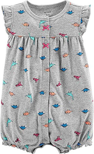 Carter's Baby Girls Dinosaur Romper 12 Months Grey Multi -