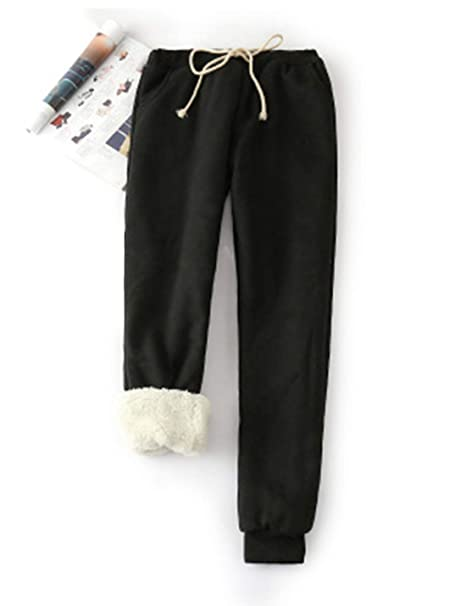 new best quality official Yeokou Women's Warm Sherpa Lined Athletic Sweatpants Joggers Fleece Pants