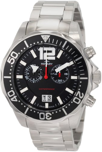 Rotary Men's AGB90050/C/04 Aquaspeed Sports Chronograph Bracelet Swiss-Made Watch