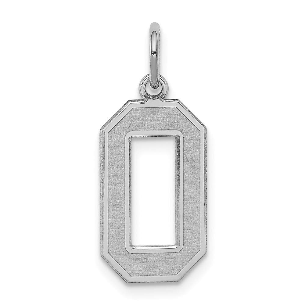 Jewel Tie 925 Sterling Silver Medium Satin Number 0 9mm x 22mm