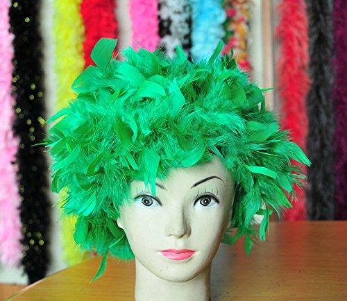 Green Chandelle Feather Costume Wig Halloween Costume Coque Feather Wigs (Atlanta, GA)]()