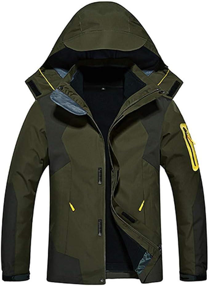 JIANYE 3 in 1 Jacke Damen Softshell Jacke Herren Funktionsjacke Wasserdicht Doppeljacke Atmungsaktiv Outdoorjacke Winter Skijacke