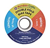 Double Fold Bias Tape for Sewing, Seaming, Binding, Hemming, Piping, Quilting; by Mandala Crafts