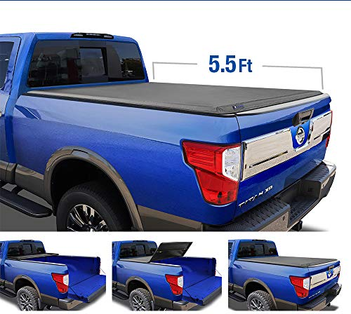 2014 Nissan Truck - Tyger Auto T3 Tri-Fold Truck Tonneau Cover TG-BC3N1026 Works with 2004-2015 Nissan Titan   Fleetside 5.5' Bed   for Models with or Without The Utili-Track System