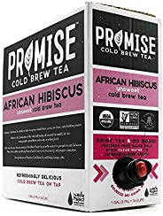 Promise Beverages Unsweetened African Hibiscus Cold Brew Tea On Tap (128 fluid ounces / 1 gallon) USDA Organic Certified Bag