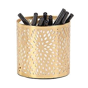 Deco 79 57413 Pencil Holder, Gold